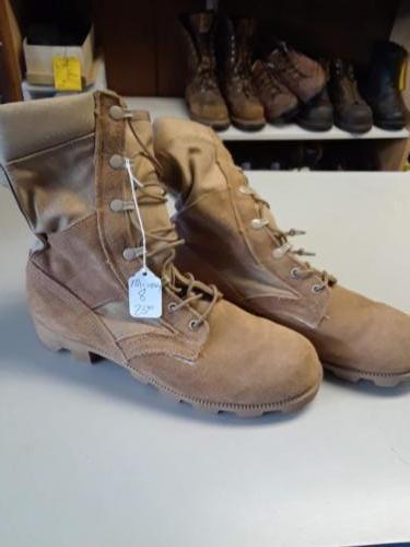 Men's boots, suede