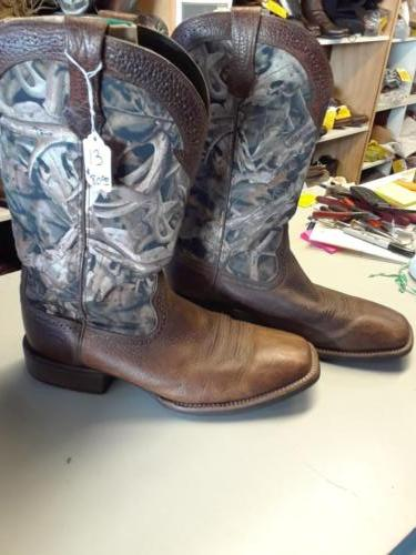 Camo pull-up boots